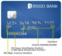 anatomy of a credit card number and the utility of the bin dirigo design development