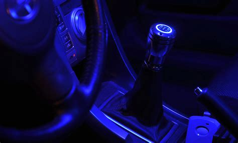 Led Shift Knob by Jdm Gear Stick Manual Transmission Shifter Silver W Blue