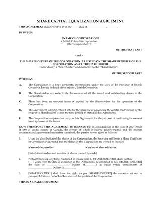 Shareholder Agreements And Forms Legal Forms And Business Templates Megadox Com Pro Rata Rights Agreement Template