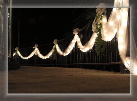 fence with tulle   Wedding in 2019   Wedding decorations