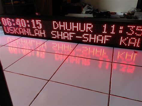 Jadwal Sholat Android Wifi Rg Jam Masjid Android Rgrb Controller pusat produksi jam jadwal sholat digital running text