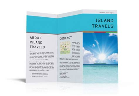 island brochure template indesign tri fold brochure template free