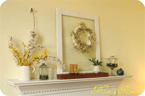 mantel decor spring mantel decor