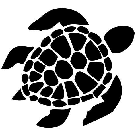 Turtle Outline Vector by Black Sea Turtle Clipart The Cliparts
