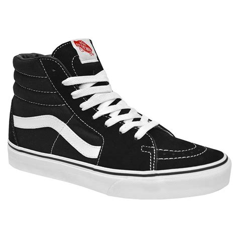 black and white high top sneakers vans classic sk8 hi top black white fashion mens womens