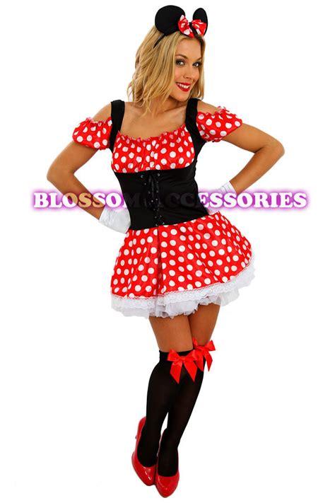 Dress Katun Mini Mouse Import f56 minnie mini mickey mouse disney fancy dress costume ears ebay