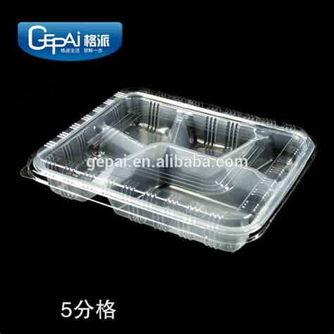 Container Thinwall Microwaveable 500ml clear thin wall pp disposable plastic food container with 5 compartments micrdwave save buy