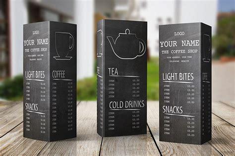 coffee shop menu design free free menu design template