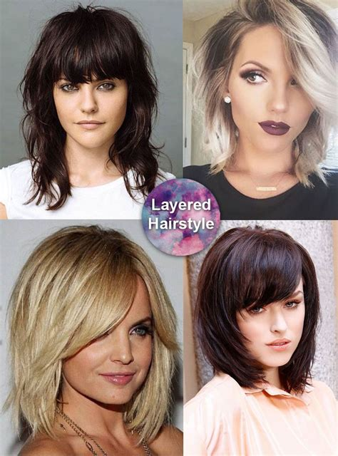 Layered Hairstyles For Thick Hair by Best Medium Length Hairstyles For Thick Hair Circletrest