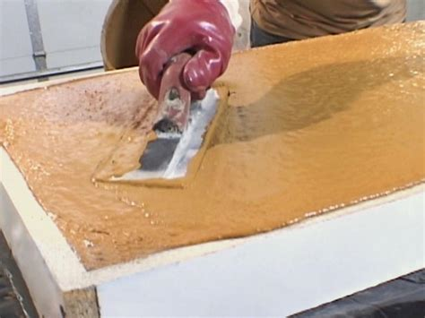How To Make Poured Concrete Countertops how to pour a simple concrete countertop how tos diy