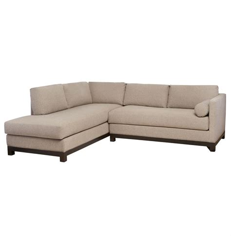 linen sectional cisco brothers cosmo modern natural linen sofa sectional