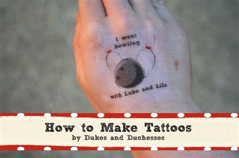 a bowling party how to make tattoos dukes and duchesses