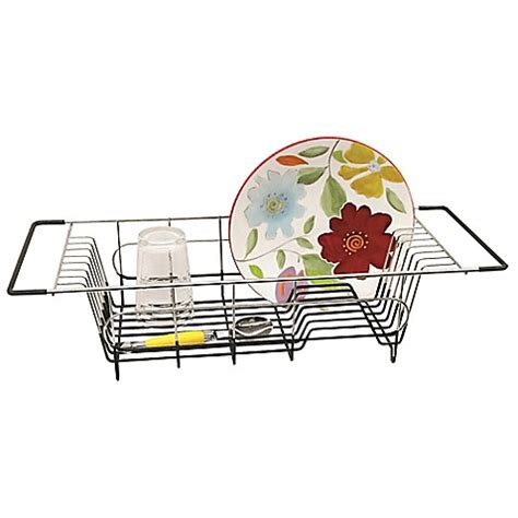 the sink dish drainer stainless steel the sink dish drainer bed bath beyond