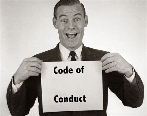Is A Blogging Code Of Conduct Really Necessary by Wow We A Code Of Conduct The Compliance