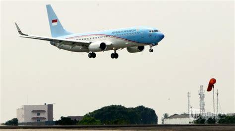 Pesawat Kepresidenan Ri Boeing 737 800ng lalulintas udara steril 30 menit sebelum pesawat