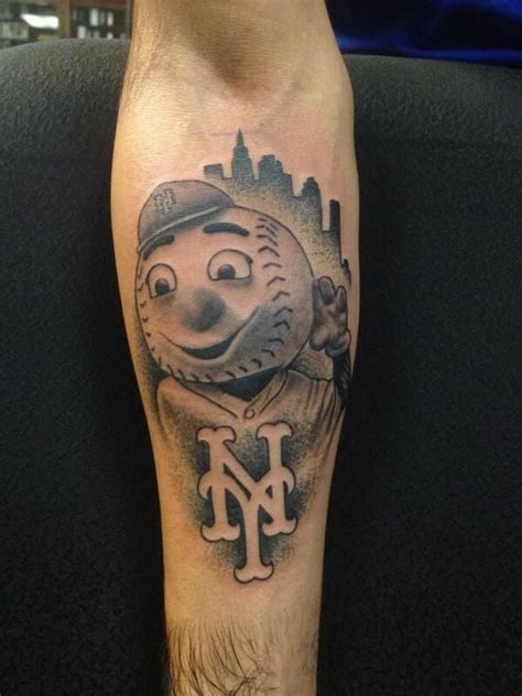 ny mets tattoo mr met meet the mets