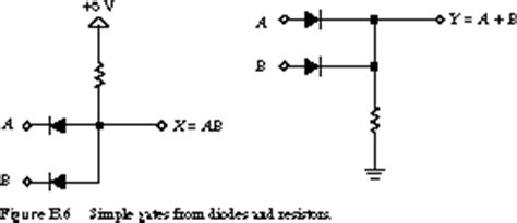 diodes gates logic gates using transistors and diodes