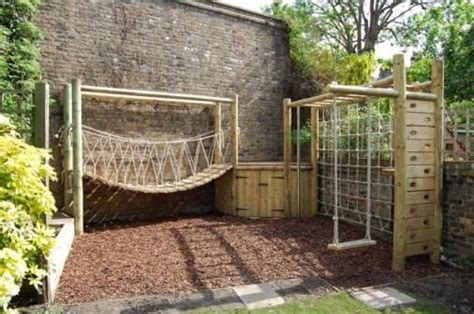 backyard rope bridge 1000 ideas about backyard play areas on pinterest play