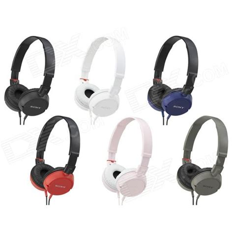 Headset Sony Mdr Zx100 genuine sony mdr zx100 zx series stereo headphone white free shipping dealextreme