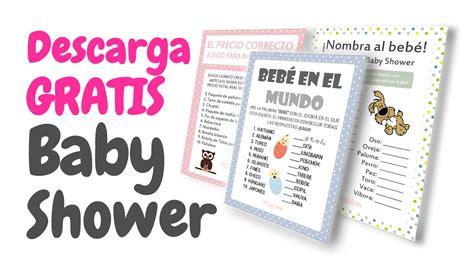 letras de baby shower para imprimir 20 tarjetas de juegos para baby shower gratis para