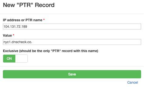 check reverse dns records ptr records dns check