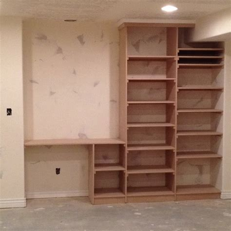 Built In Bookshelves With Desk by Desk And Bookcase Build In Home Make