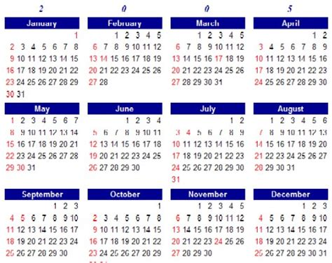 Year Of The Calendar Calendar Year