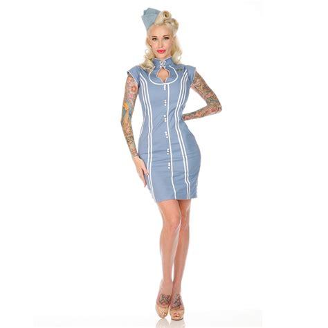 voodoo vixen blue 50s new vintage style retro air hostess