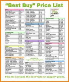 7 grocery lists with prices daily chore checklist