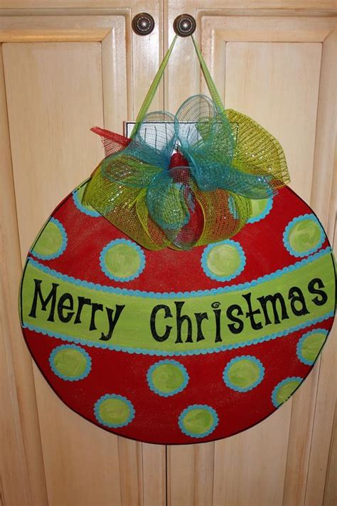 how to make a christmas door hanging on youtube wood ornament door hanger
