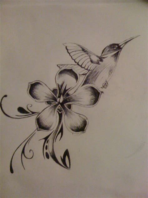drawing of tattoos flower shonari hylton