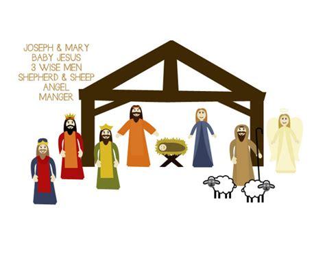 large printable nativity scene easy printable nativity scene craft allfreeholidaycrafts com