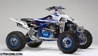 Honda Atv 450r Ct Racing Honda Trx 450r Er Atv Graphics Blue White With