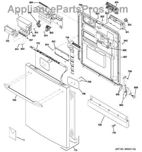 ge profile dishwasher diagram ge wd27x10177 toekick asm appliancepartspros