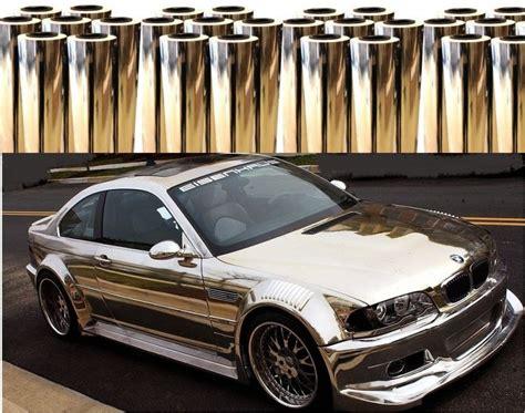 Ar Autofolie Eu by Chrom Auto Folie Glanz Autofolie Selbstklebende Gold