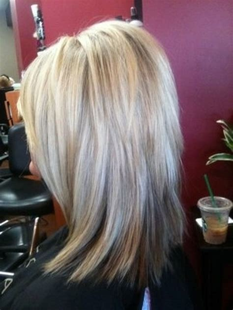 mid length hair cuts longer in front stacked medium length haircuts