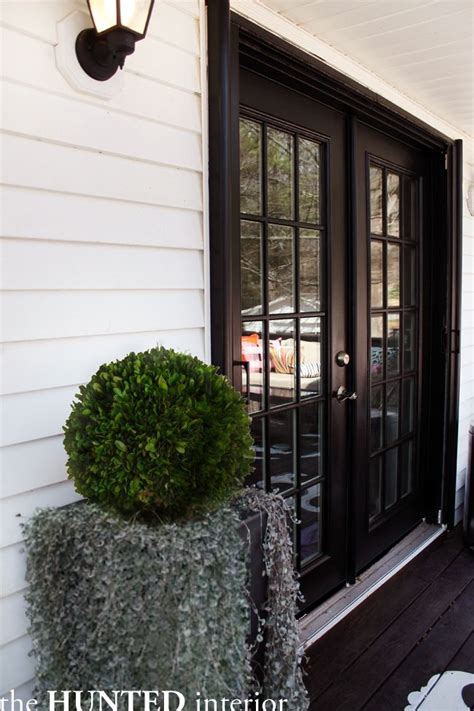 Front Door Patio Patio Doors Painted Black Garden Outside Spaces Pinterest