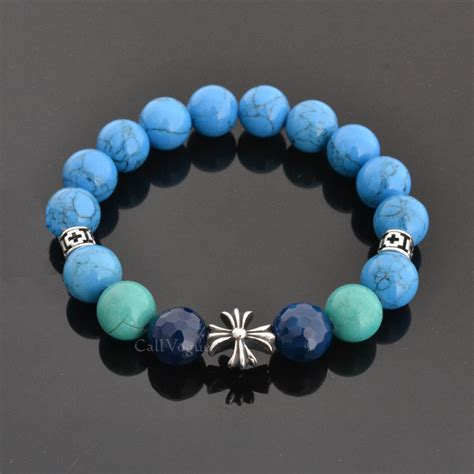 blue beaded bracelet blue howlite gemstones beaded bracelets callvogue