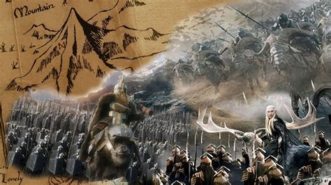 Battle Earth the dwarves and elves of middle earth the battle of the