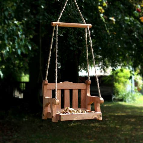 wooden swing seat plans wooden swing seat birdfeeder by the orchard