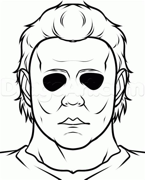 How To Draw Michael Myers Easy Step By Step Characters Michael Myers Coloring Pages