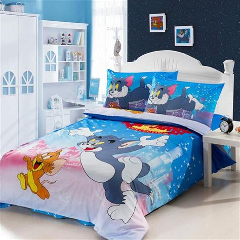 online bedding stores aliexpress com buy tom and jerry bedding set 100 cotton