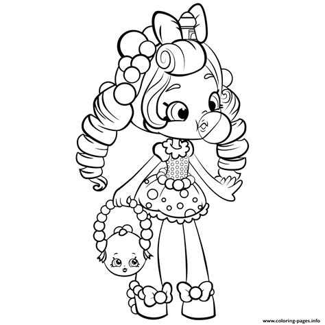 coloring sheets of dolls shopkins shoppies doll coloring pages printable