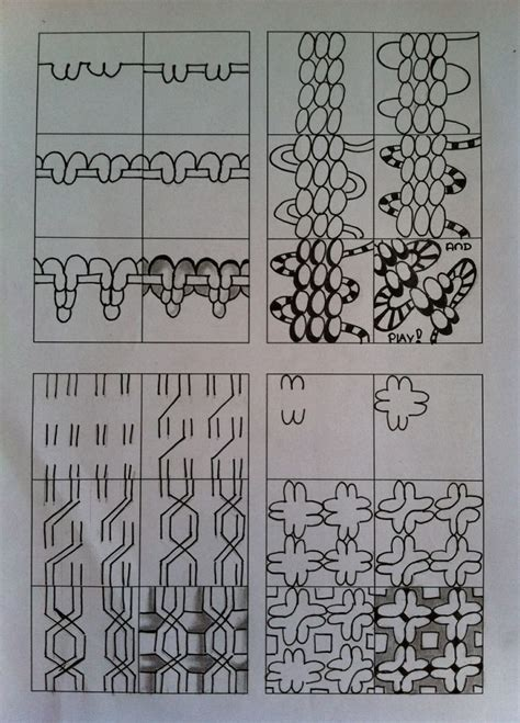 zentangle pattern basics zentangle tutorials in steps zentangle pinterest