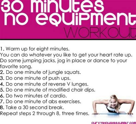 30 minute no equipment workout home workouts