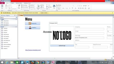 new microsoft access invoice database template invoice templates