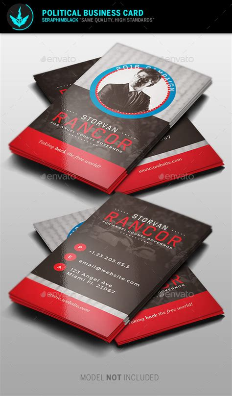 political business cards template political business card template by seraphimblack
