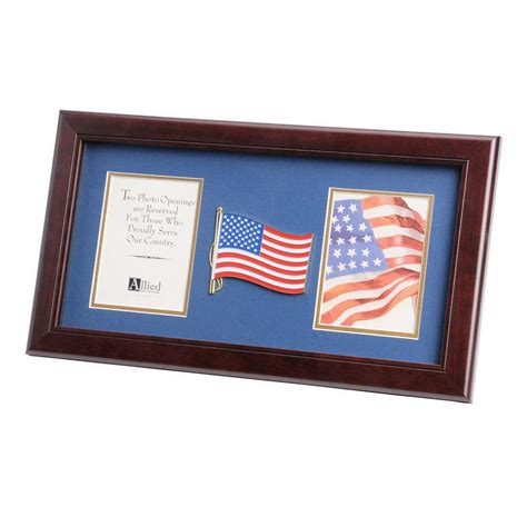 american picture frames american flag medallion 4 inch by 6 inch picture frame