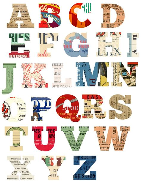 free printable letters with pictures free printable scrapbook letters diy crafts printables