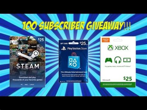 Playstation 100 Dollar Gift Card - full download xbox live psn steam wallet code giveaway 100 subscribers competition